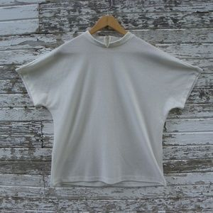 VINTAGE Unique White Retro Blouse Shirt